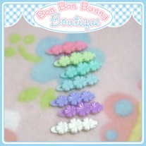 Tiny Treat Hair Clip - Flower Trio E