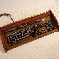 Antique looking -IBM Clicky Keyboard-Victorian Steampunk- Rusty Styling- Typewriter