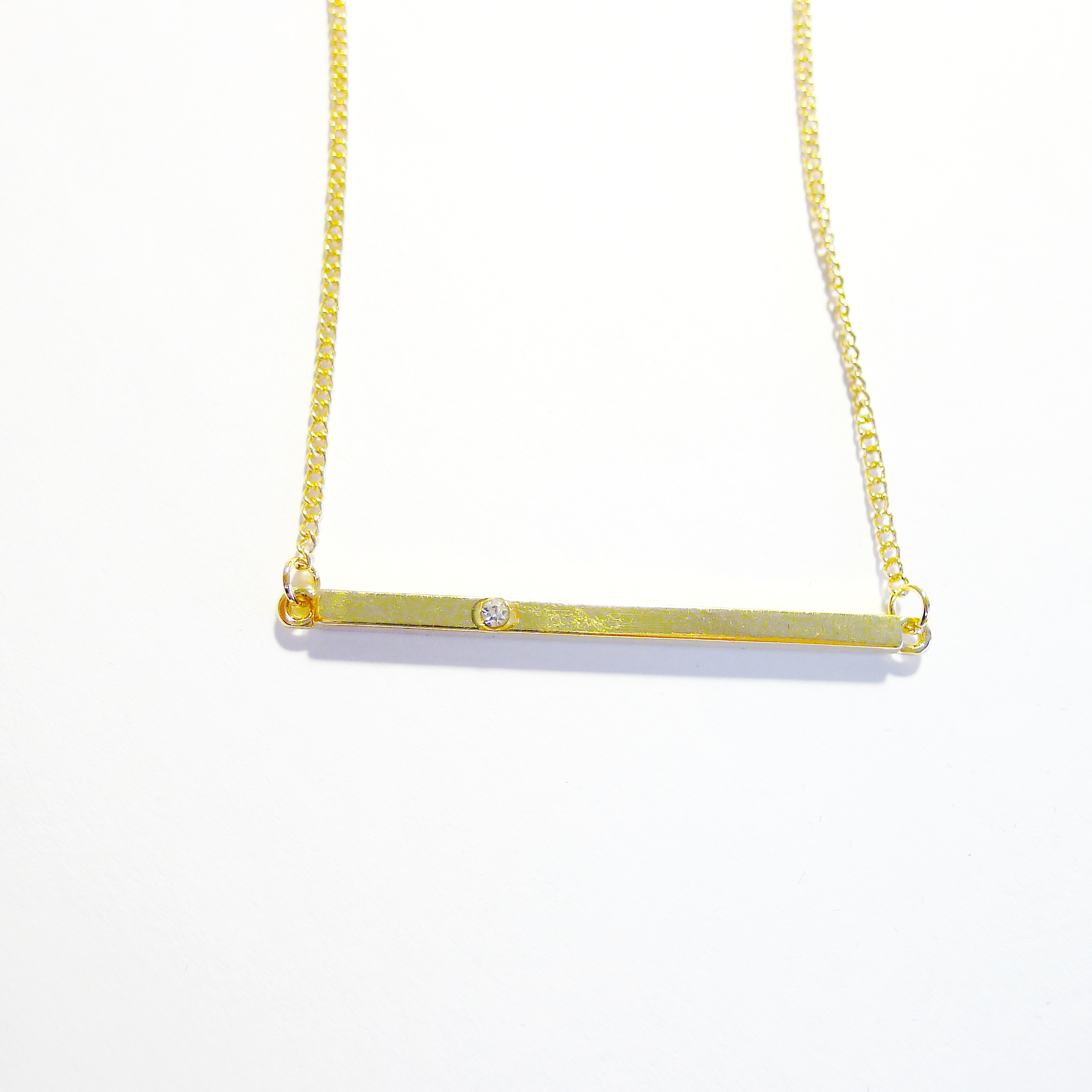 necklace lumo products wb bar vertical gold pendant