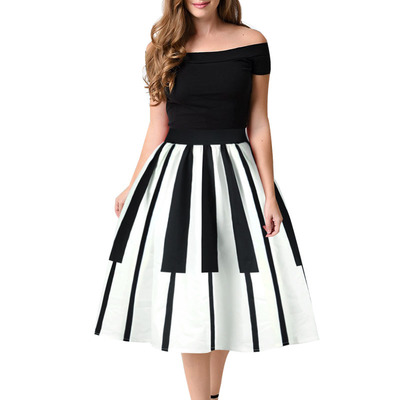 54735f672a8 S m l white black piano print a-line gothic lolita skirt kawaii rockabilly
