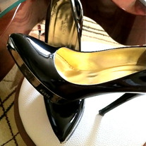 ***SO SEXY** GUCCI BLACK PATENT SHOES SZ 36