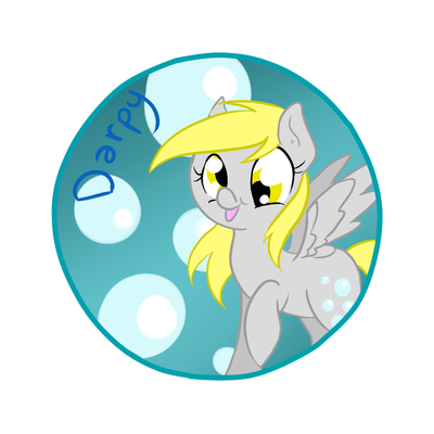 Derpy hooves circle sticker