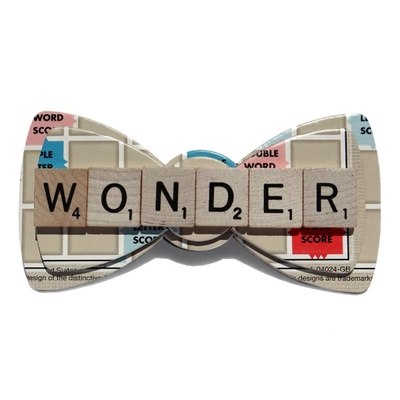 Upcycled custom scrabble™ word bow ties