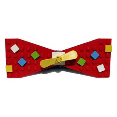 lego® red confetti bow ties