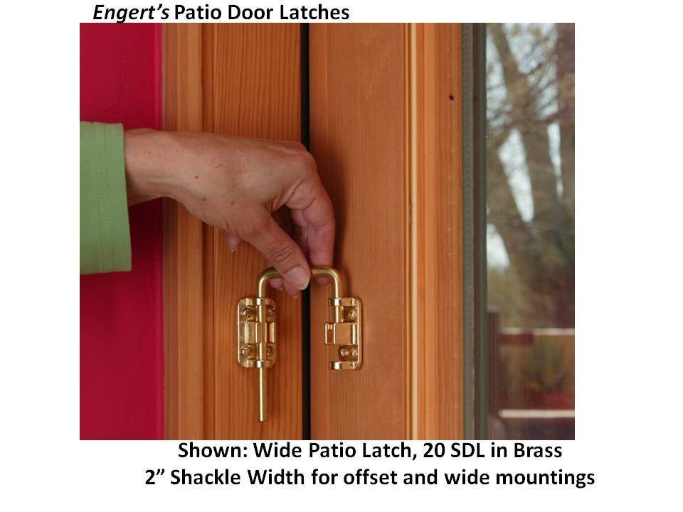 Patio Door Latch Collection Engerts Handle Latches Online Store
