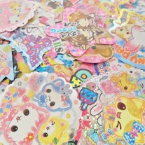 5 Kawaii Large Sticker Flakes : Limited Stock!