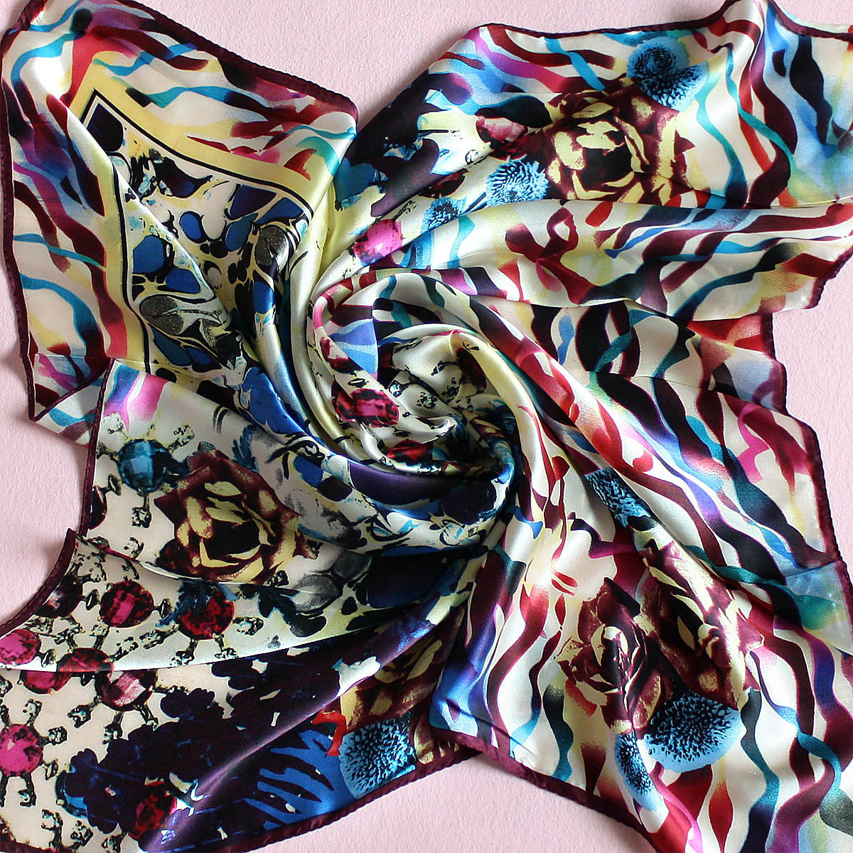 headband square scarf Head Scarf Silk Scarves Square Scarves For Women Uk