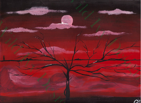 Dreaming Red 8x10 Painting
