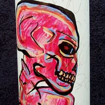 the Threat - original painting on spray can