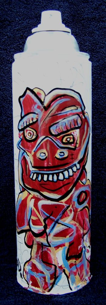 Tim O - original painting on spray can