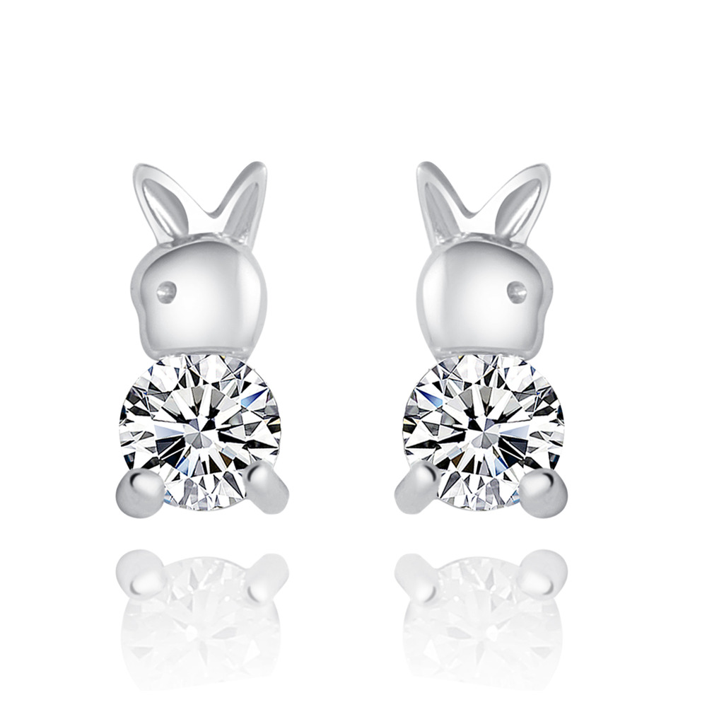 Bunny Rabbit 925 Sterling Silver Stud Earrings 9mm With Cubic Zirconia Cz  Pave Diamond · Sterling Silver Jewelry · Online Store Powered By Storenvy
