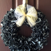 Navy BDU Wreath WITHOUT Nametapes