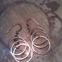 3 Silver Circle Earrings