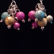 Multi-Colored Cluster Earrings