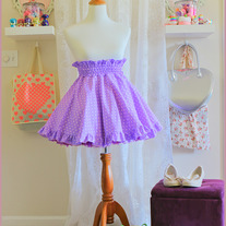 Polka Dot Grape Skirt