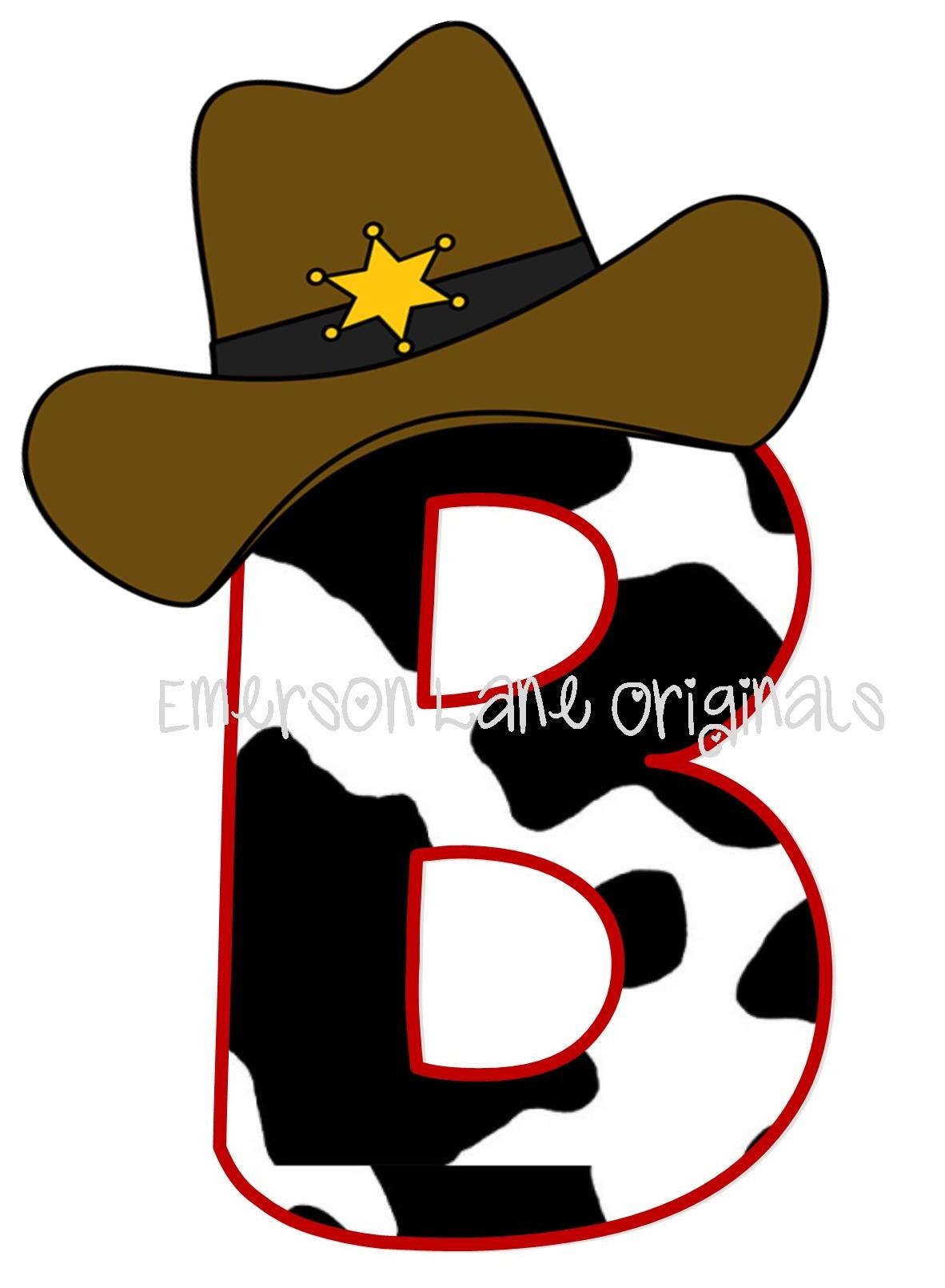 Cowboy Monogram In Cow Print T Shirt Emerson Lane Originals