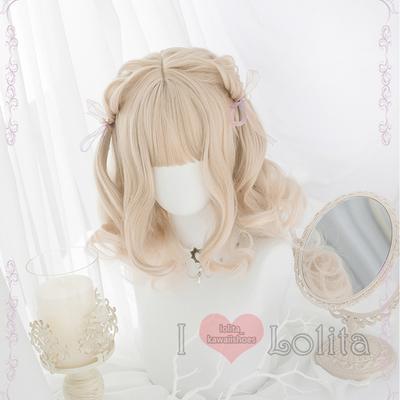 Japanese fashion harajuku kawaii short curly wigs daily wigs lk19041713