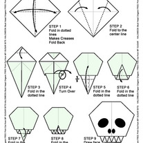 How to Make An Origami Skull for Halloween and The Day of