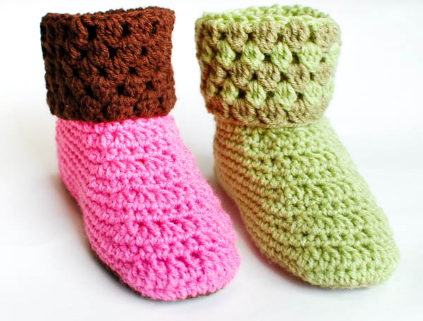 Crochet Pattern - Ladies Crochet Booties Slippers Pattern (Womens ...