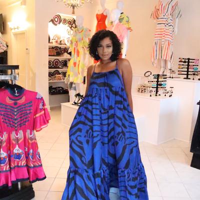 Ghana dreaming zebra maxi