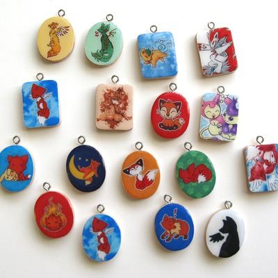 Art tile charms- 23 choices