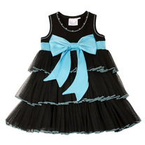 Ooh La La Couture Black Sky Bow Dress