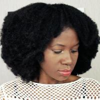 Natural Looking Afro Human Hair Wig (Handmade) - Thumbnail 2