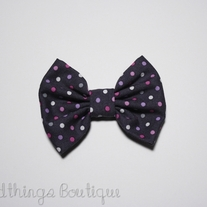 Purple Shades Polkadot Bow