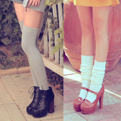 Heap socks knee-high tights seven colors