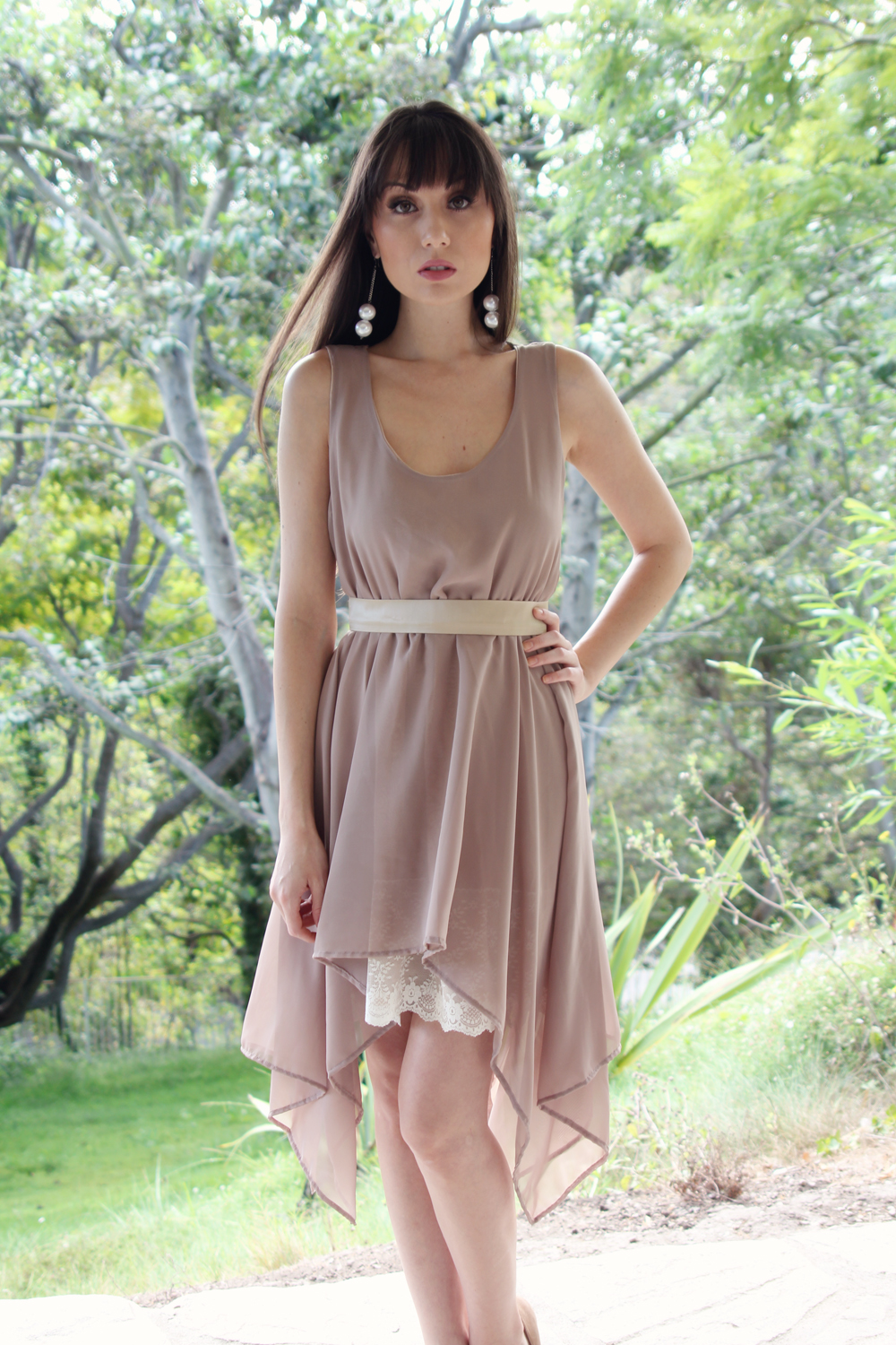 Taupe brown geometric skirt country chic bridesmaid dress taupe brown geometric skirt country chic bridesmaid dress ombrellifo Image collections