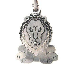 Lion Shaped Three Part Dangle Earrings in Silver