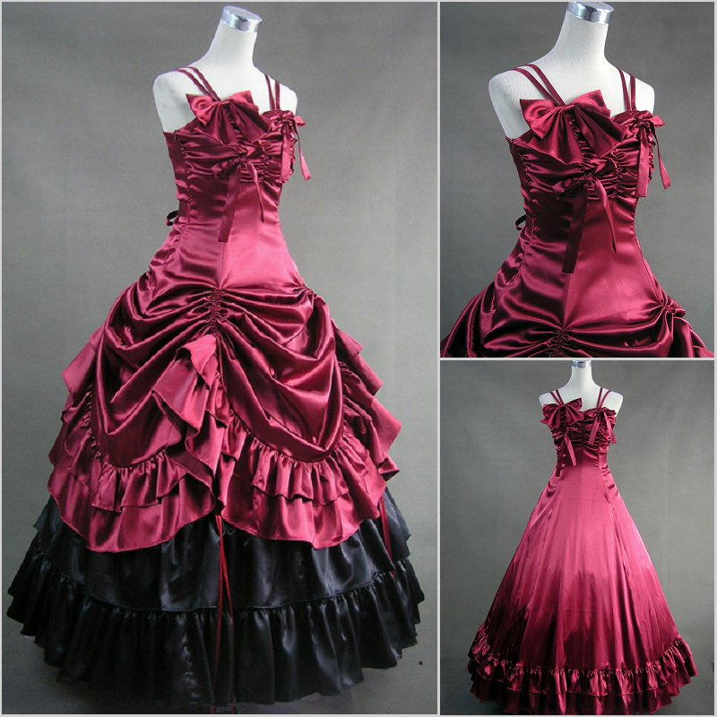 Victorian Ball Gown Royal Red