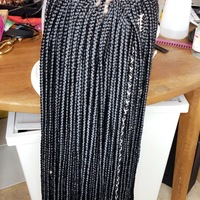 Style Me Box Braids Closure Wig (Handmade) - Thumbnail 1