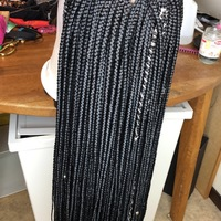 Style Me Box Braids Closure Wig (Handmade) - Thumbnail 2