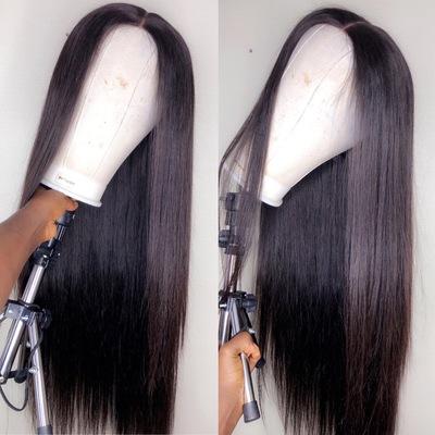 30 inches Silky Straight Raw Human Hair Closure  (Handmade Wig)