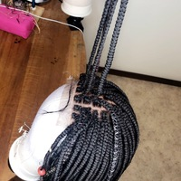 Light bob wig (everyday handmade braided wig) - Thumbnail 4