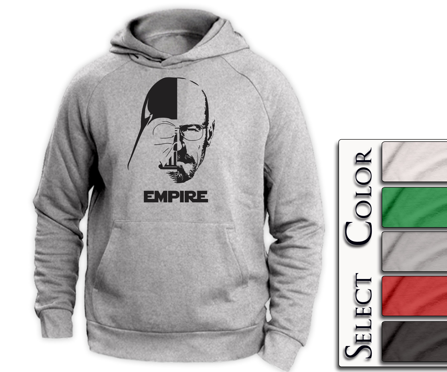 Empire Hoodie - breaking bad walter white tshirt darth vader star wars t shirt - A131