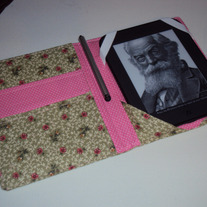 Handmade Kindle or Nook Cover Green Roses
