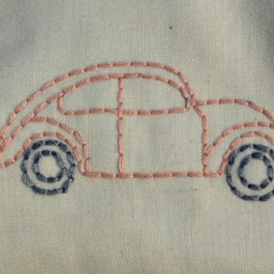 Just stitched love bug car zippy