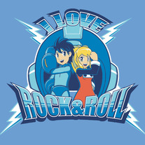 I Love Rock & Roll T-Shirt (Blue)