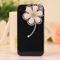 New Bling Crystal White Pearl Daisy iPhone 4/4S Case