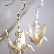 Origami Earrings - White