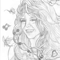 *Sample Image* 8x10 Custom Portrait, Black & White graphite drawing