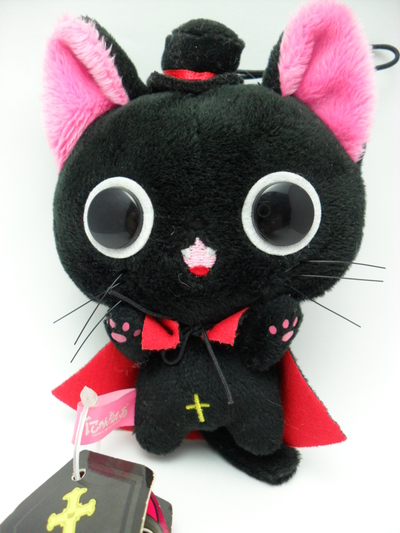 Nyanpire Vampire Cat w/ Red Cape & Top hat 10cm UFO Plush