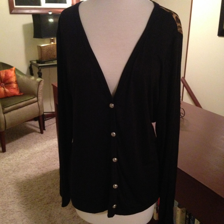 Plus Size Black Leopard Cardy Allisonicoles Online Store Olive Basic Cardigan