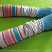 Blue Skater Sock Arm Warmer