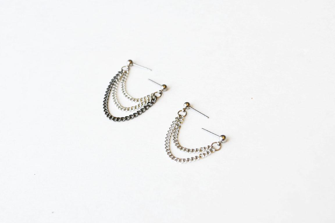 Earrings for double lobe piercing gauge