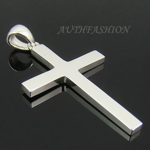 mens sterling silver plain cross pendant for chain. Black Bedroom Furniture Sets. Home Design Ideas