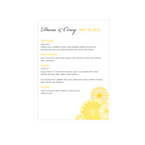 printable wedding menu | kiku