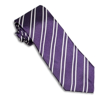 Royal Purple Repp Stripe Tie